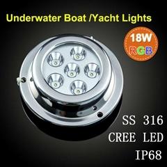 18w stainless steel underwater boat light