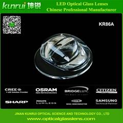 led optical glass lens for tunnel light(KR86A)