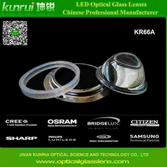 led optical glass lens for bay light(KR66A)