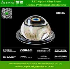 led optical glass lens for bay light(KR40A)