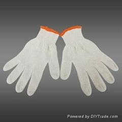 7g chain machine bleached white color knit glove