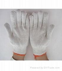 bleach knit cotton string pvc dots working gloves