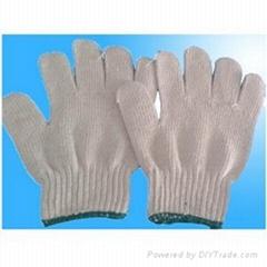 7 gauge T/C natural string knit elastic yarm comfortable gloves