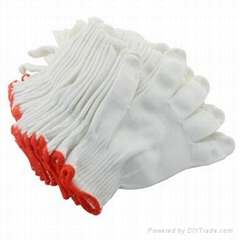 working gloves with pvc dots working