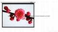 管狀電機高清玻纖幕料100英吋電動4;3投影銀幕 3