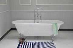 Double Roll Top Clawfoot Bath