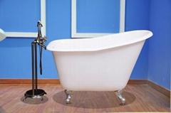 Deep Single Slipper Cast Iron Bath Tub