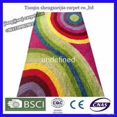 Colorful design decorative modern carpets for bedroom