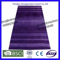 hand tufted 300D polyester shaggy carpets for home use