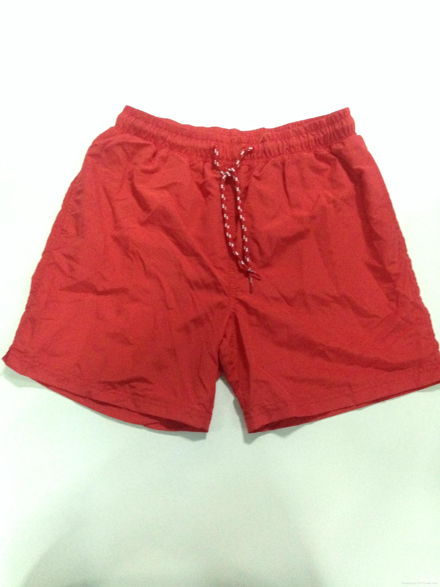 Custom design taslon fabric beach short  1