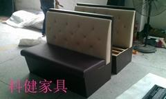 西餐厅沙发订做kj-x002