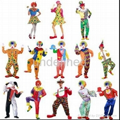 Adult Halloween costumes clowns clown wearing suits
