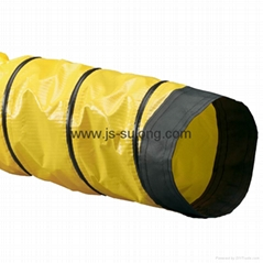 PVC  coated fabric ventilation ducting