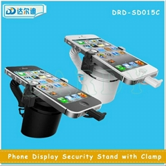 Desk Exhibit Charging Cellphone Anti-Lost Alarm Security Display Stand with Clip