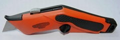 Heavy duty Ergonomic All-Metal Retractable Utility Knife Box Cutter
