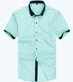 men's print leisure shirt