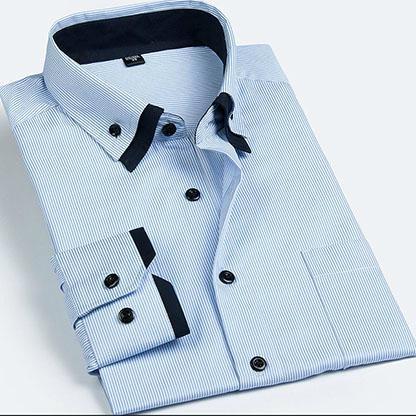 men's double collar dress shirt  5