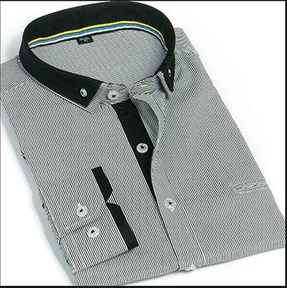men's stripe button-down shirt  1