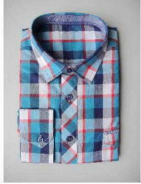 men's cotton plaid shirt  1