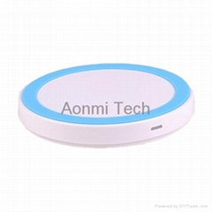 circle china supplier QI wireless charger for mobile phone with factory price