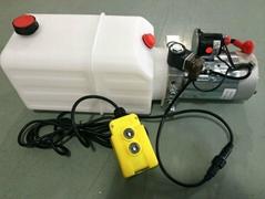 DC 12V Motor Horizontal Single Acting Mini Hydraulic Power Packs for Dump Traile