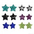 star shape colorful rhinestone stud