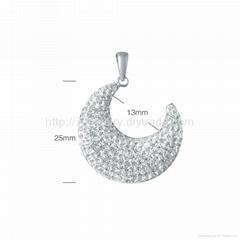 fashion sterling si  er pendant jewelry for necelace and bracelet