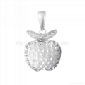 sterling silver fashion pendant decorate with imitation pearl for necklace  1
