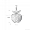 sterling silver fashion pendant decorate with imitation pearl for necklace  2