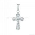 cross shape fashion sterling silver