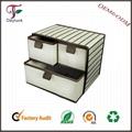Foldable Cardboard colorful fabric storage box