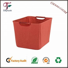 Outdoor small wooden cushion fabric clothing storage box
