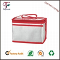 Lunch cooler bag recycle aluminium foil with durable hard liner  1