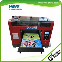 CE Approved UV Flatbed Printing Machine A3 Size for Acrylic  Pen Plastic  Bottl