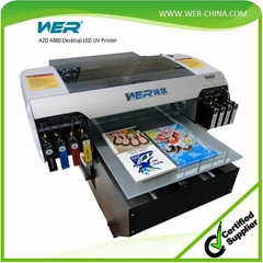 Logo Printing Machine for Plastic A2 Desktop UV Printer