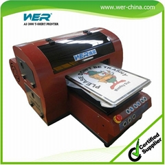 Cheapest Price A3 Small Cloth Printing Machine for T Shirt