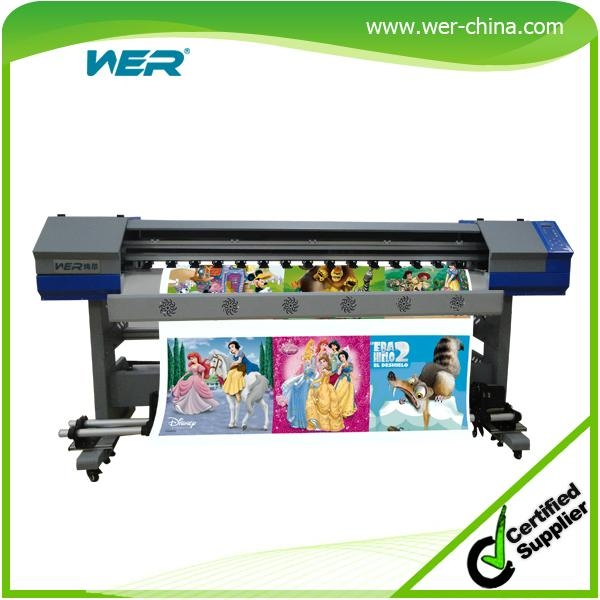1.8 Meters Indoor and Outdoor Printing Machine Eco-So  ent Flatbed Printer with 1
