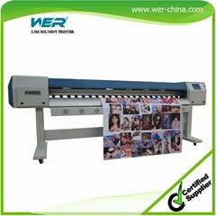 Price of Flex Printing Machine 2.5m with Two Epson Dx5 Head Eco So  ent Printer