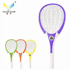 Rechargeable Electric Mosquito Swatter with 3led light