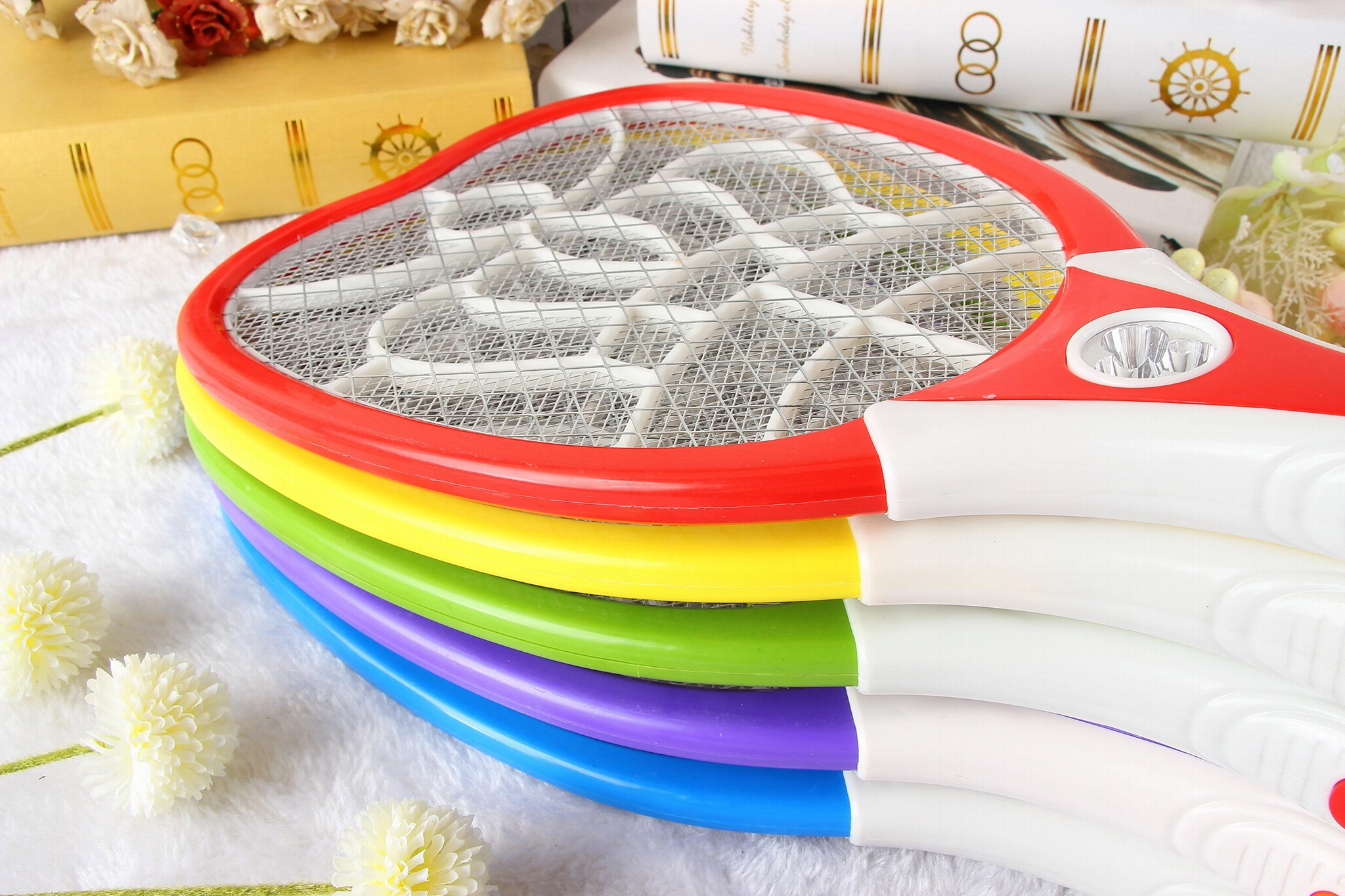 Rechargaeable Mosquito 3 layer net  Swatter  for Domestic Use with round plug 3