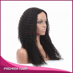 Wholesale 24 Inch Kinky Curly Virgin Brazilian Human Hair Wig
