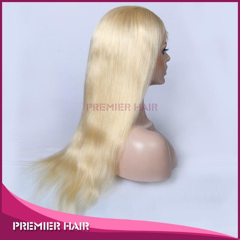 18 Inch Virgin Brazilian Human Hair Blonde Full Lace Wig 2