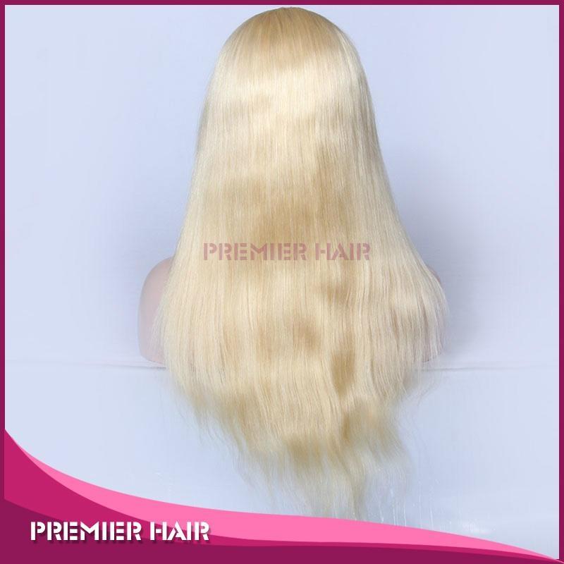 18 Inch Virgin Brazilian Human Hair Blonde Full Lace Wig 4