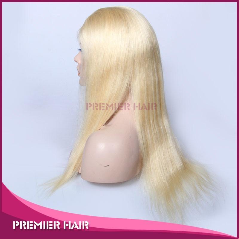 18 Inch Virgin Brazilian Human Hair Blonde Full Lace Wig 3