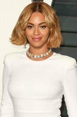 Beyonce Bob Style Virgin Brazilian Hair Lace Front Wig