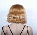Beyonce Bob Style Virgin Brazilian Hair Lace Front Wig 2