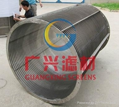 Large diameter rotary drum  screen  for sugar mill