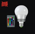 10W RGB led bulb lamp 16 color changes