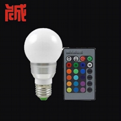 3W E27 RGB LED Light Bulb Lamp 24key Wireless Remote Controller Magic Lighting
