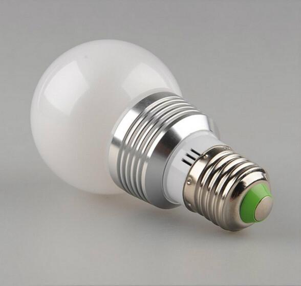 3W E27 RGB LED Light Bulb Lamp 24key Wireless Remote Controller Magic Lighting  4